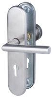 Set Wohnungseingangstür weiß, CPL Oberfläche mit Zarge und Beschlag