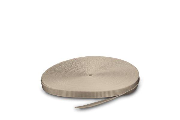 Gurtband 14 mm  in hellgrau oder beige im Systemkarton
